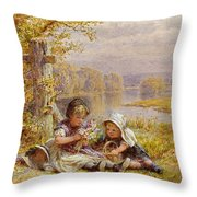 A Posy For Mother Throw Pillow