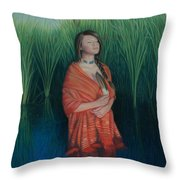 A Prayer For The Waters Throw Pillow