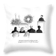 A Priest Makes A Eulogy Throw Pillow