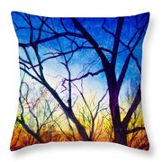 A Primary Sunset Throw Pillow