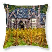 The Ledson Castle - Kenwood, California Throw Pillow
