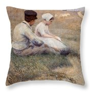 A Proposal In Picardy Throw Pillow