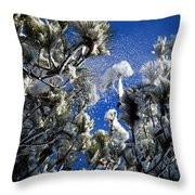 A Puff Of Wind Throw Pillow