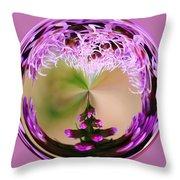 A Purple Design Throw Pillow