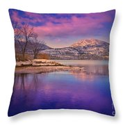 A Purple Surrender Throw Pillow