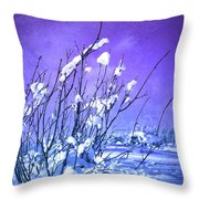 A Purple Winter Throw Pillow
