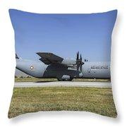 A Qatar Emiri Air Force C-130j-30 Throw Pillow