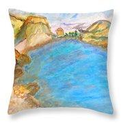 A Quiet Beach  Throw Pillow