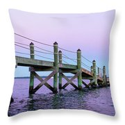 A Quiet Evening At Dusk With A Moonrise Throw Pillow