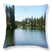 A Quiet Place - Bass Lake Throw Pillow