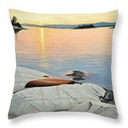A Quiet Time Throw Pillow by Kenneth M  Kirsch