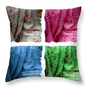 A Quilt Will Warm Your Body And Comfort Your Soul Throw Pillow