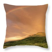 A Rainbow Appeared Over Mt. Washington Throw Pillow