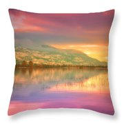 A Rainbow Morning Throw Pillow