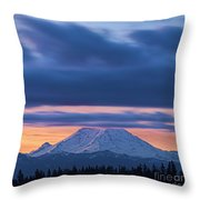 A Rainier Dawn Throw Pillow