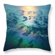 A Rainless Rainbow Throw Pillow
