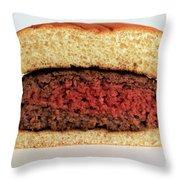 A Rare Hamburger Throw Pillow