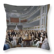 A Reading Of Ventura De La Vega Throw Pillow