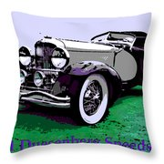 A Real Duesey Throw Pillow