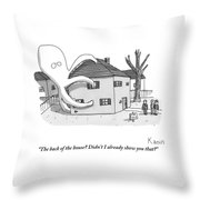 A Real Estate Agent Tries To Hide From Potential Throw Pillow