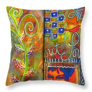 A Rebirth Of Sorts Throw Pillow