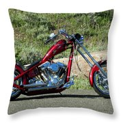 A Red Beauty Throw Pillow