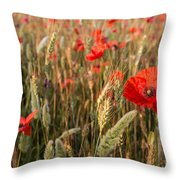 A Red Dressed Beauty  Throw Pillow