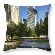 A Reflection Of Chicago Throw Pillow
