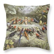 A Rehearsal In Fairy Land, Illustration Throw Pillow