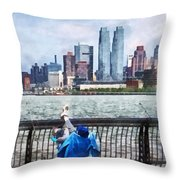 A Relaxing Day For Fishing Throw Pillow