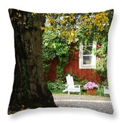 A Relaxing Finnish Afternoon Throw Pillow