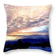 A Remarkable Winter Evening Throw Pillow