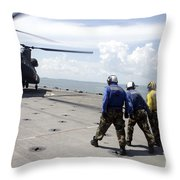 A Republic Of Singapore Air Force Ch-47 Throw Pillow