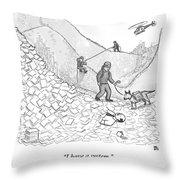A Rescue Team Locates A Man Buried Throw Pillow