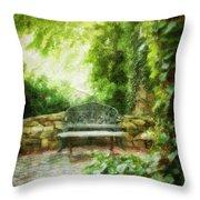 A Restful Retreat Throw Pillow