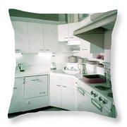 A Retro Kitchen Throw Pillow