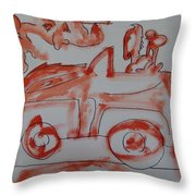 A Ride Under The Full Moon 2009 Throw Pillow