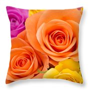 A Riot Of Roses Throw Pillow