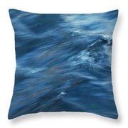 A River Flows Gently By Throw Pillow