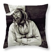A River Guide Crosses His Arms In Front Throw Pillow