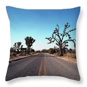 A Road Leads Through Joshua National Throw Pillow