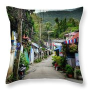 A Road Throw Pillow