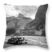 A Roadster In The Rockies Throw Pillow