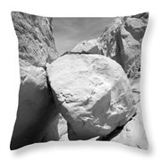 A Rock In A Hard Place. Throw Pillow