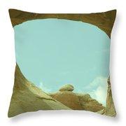 Rock Inside The Window Throw Pillow