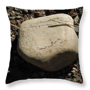 A Rock With No Roll Throw Pillow