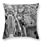A Rocket Manufacturing Facility. Throw Pillow