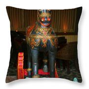 A Rocking Horse Of Many Colors Throw Pillow