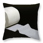 A Roll Of Toilet Paper Throw Pillow