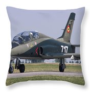 A Romanian Air Force Advanced Trainer Throw Pillow